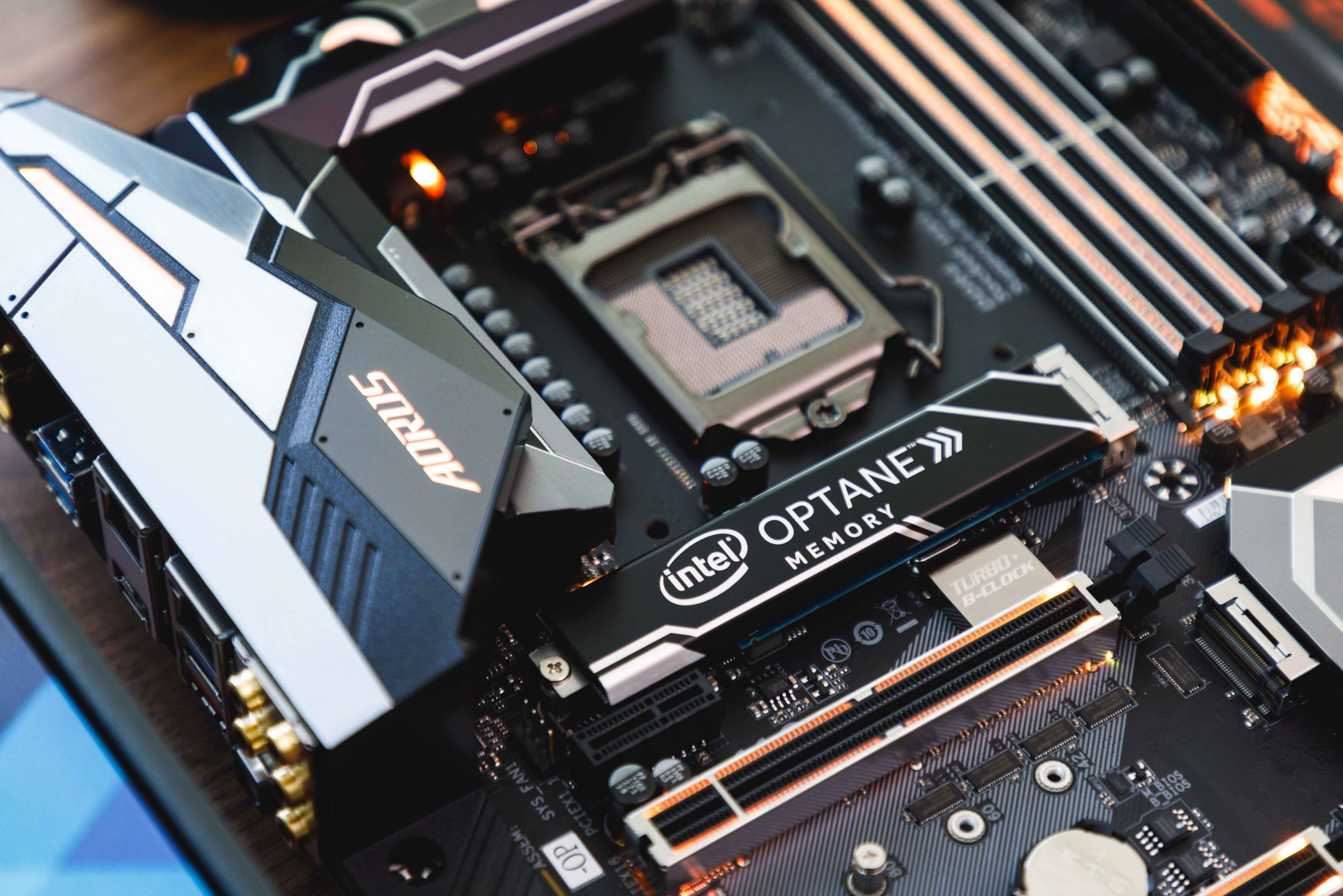 The Z370 AORUS Gaming 7-OP has Intel Optane Memory pre-installed for instant performance gains