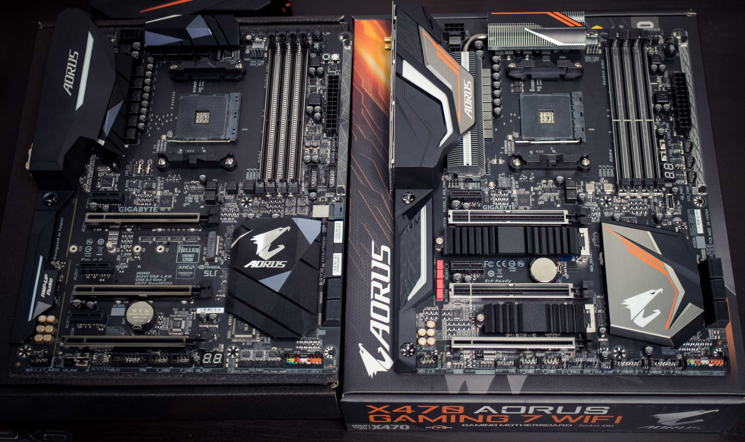 Compared to the previous generation, the X470 AORUS Gaming 7 rocks a bigger and better heat sink.