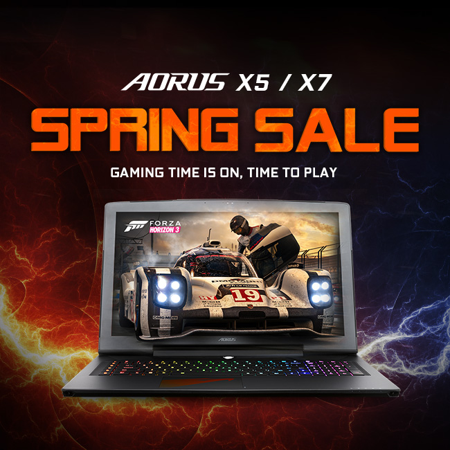 AORUS Spring Sale: The Season of Booming & Gaming
